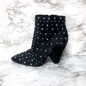 Sam Edelman Raya Studded Black Suede Boot